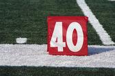 Football forty yard marker — Stock Photo