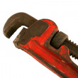 Old isolated pipe wrench — Stock Photo