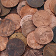 Stock Photo: US pennies background texture