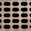 Sewer grate background - Stock Photo