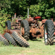 Old red tractors — Stock Photo