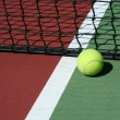 Tennis Ball inbounds — Stock Photo