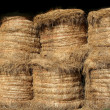 Stock Photo: Stacked Hay Bales