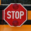 scuola bus stop sign — Foto Stock