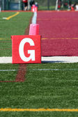 Football field goal line — Stock Photo