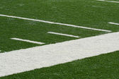Football field side line — Stock Photo