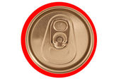 Isolated closed red soda can lid — Zdjęcie stockowe
