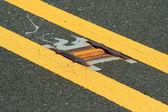 Road reflector lane marker — Stock Photo