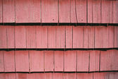 Red shingle siding — Stock Photo