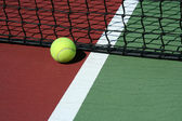 Tennis Ball out of bounds — Stock Photo