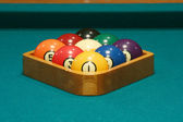 Nine ball rack — Stock Photo