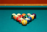 Eight ball rack — Stockfoto