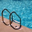 Stock Photo: Swimming pool ladder