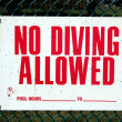 No Diving sign — Stock Photo #2119968