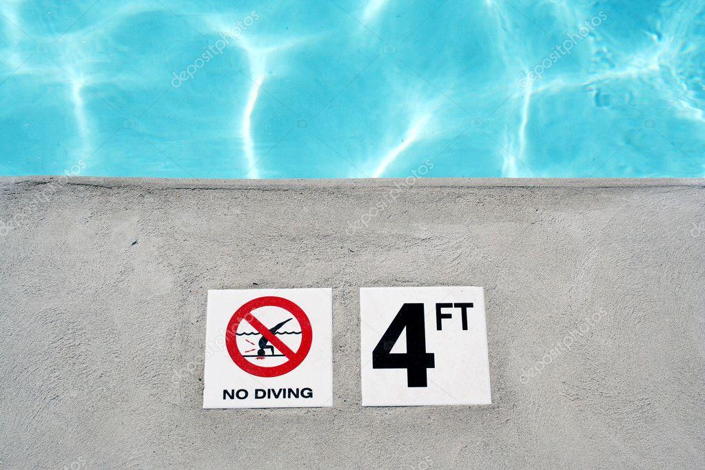 Swimming Pool Depth Marker Stock Photo Njnightsky 2119920