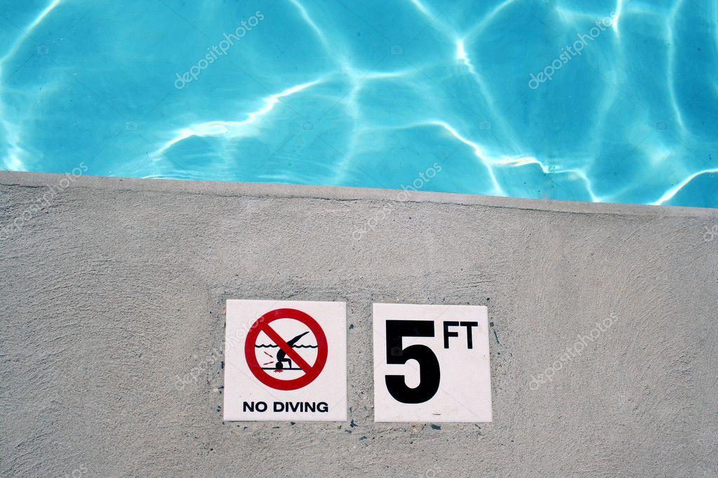 Swimming Pool Depth Marker Stock Photo Njnightsky 2119951