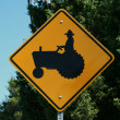 Tractor Sign — Stock Photo