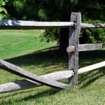 Broken Wooden Rail Fence — Stock Photo