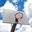 Stock Photo: Basketball hoop against sky