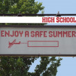 High School sign — Stock Photo