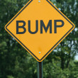 Bump sign — Stock Photo