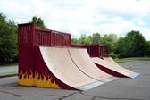 Skateboard Park Ramps — Stockfoto