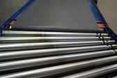 Conveyor Rollers and belt — Stock Photo
