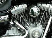 Motorfiets motor — Stockfoto