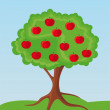 Stock Vector: Apple-tree