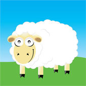 Sheep smile character — Stock Vector