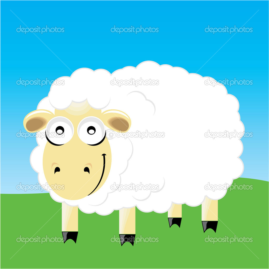 Sheep smile character. vector illustration .eps — Stock Vector #1977282