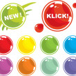 Colored balls - Stock Vector