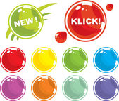 Colored balls — Stock Vector