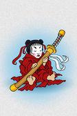 Baby with sword — Stock Photo