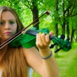 Young violinist — Stock Photo