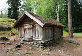 Lapland hut — Stock Photo