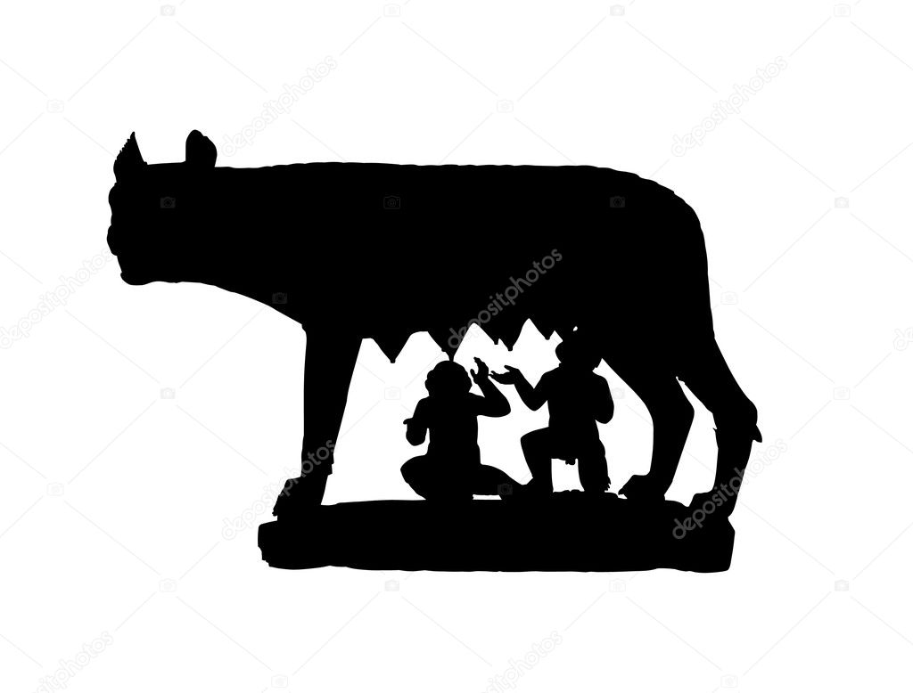 Capitoline wolf shadow stock photo count kert 2053355 for Immagini vector