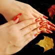 Autumnal nail design — Stock Photo #2585001
