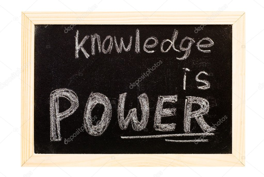 It is a blackboard written knowledge is power slogan. — Stock Photo #2009742