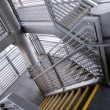 Modern gray stair outside of buildings — 图库照片