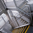 Modern gray stair outside of buildings — ストック写真