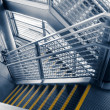Stock Photo: Modern gray stair outside of buildings