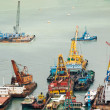 Colorful boats in the harbor — Stock Photo
