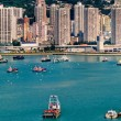 Colorful boats in Hong Kong — Stock Photo