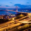Tsing Ma Bridge in HK — Stock Photo