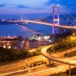 Tsing ma bridge v hong Kongu — Stock fotografie