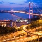 hong Kong'daki Tsing ma bridge — Stok fotoğraf