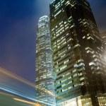 Skyscraper with traffic light — Stock Photo
