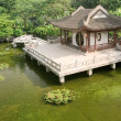 Stock Photo: Chinese building near the pond