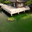 Chinese building near the pond — Stock Photo